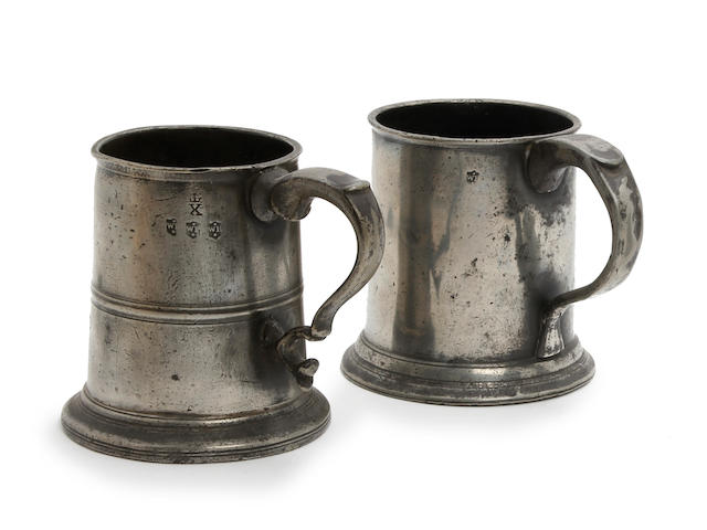 A Newcastle-Upon-Tyne pre-Imperial half reputed-quart straight-sided mug, circa 1800