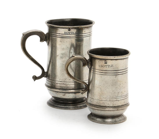 A Scottish bottle U-shaped mug, circa 1860