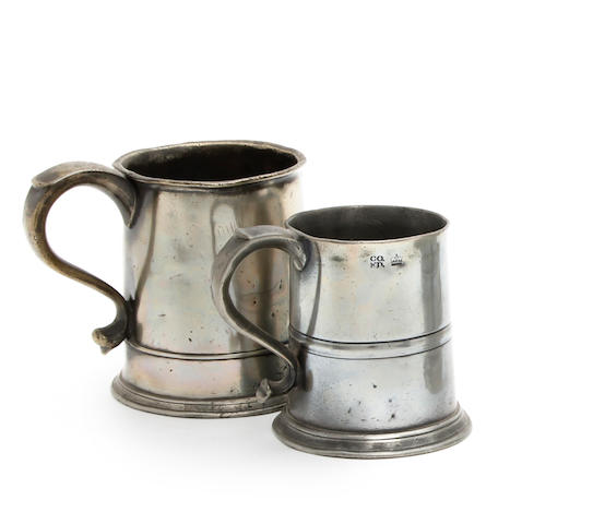 A Scottish mutchkin capacity straight-sided mug, circa 1820