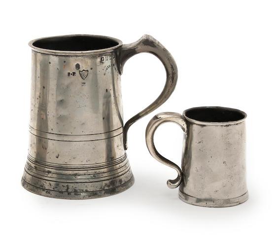 A Bristol half-pint ale mug, circa 1780