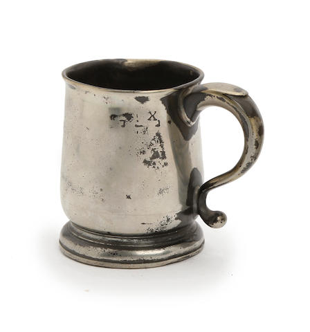 An Ale half-pint U-shaped mug, circa 1730