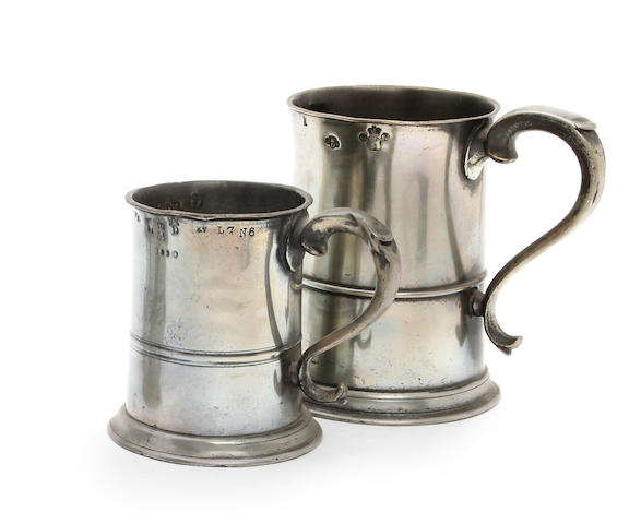 A Scottish Imperial quart straight-sided mug, circa 1826