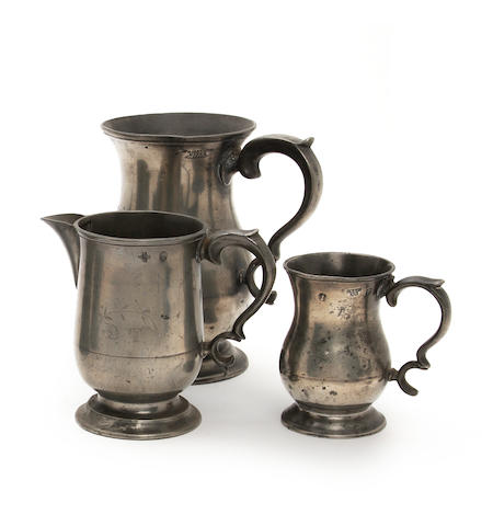A Scottish quart tulip-shaped mug, circa 1850
