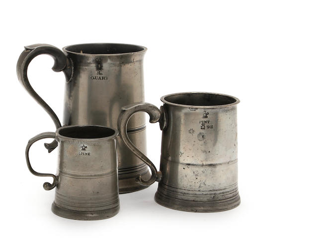 A Scottish straight-sided quart mug, circa 1820