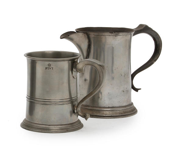 A Scottish pint straight-sided mug, circa 1860