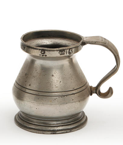 A Wigan Imperial gill bulbous measure, circa 1830
