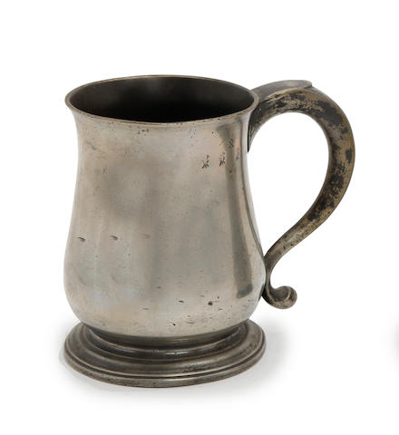 A quart tulip-shaped mug, circa 1710
