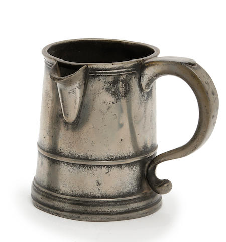 A pint side-spouted mug, circa 1730