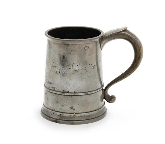 A quart straight sided mug, circa 1720