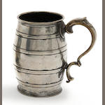 A quart barrel-shaped mug, circa 1830