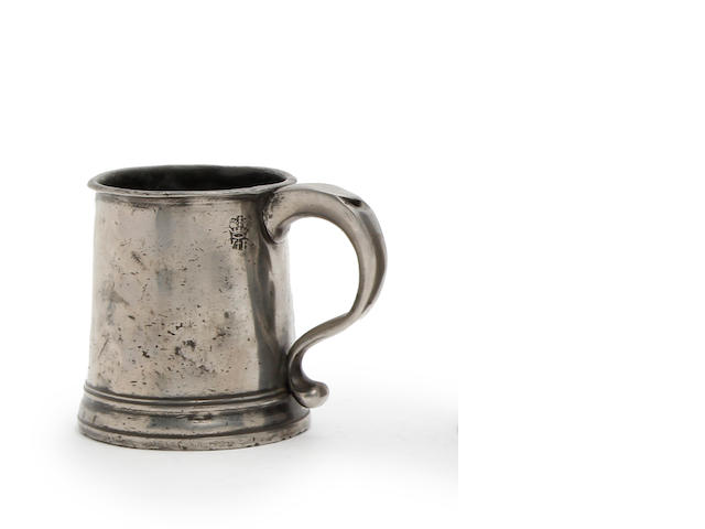 A Pre-Imperial half-pint straight-sided mug, circa 1730