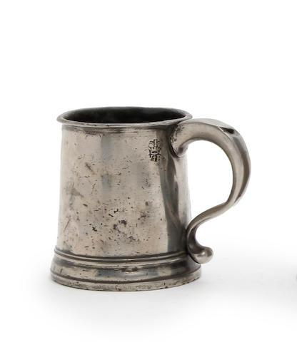 A Pre-Imperial half-pint straight-sided mug, circa 1730