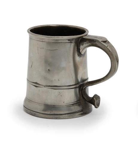 A Pre-Imperial Bristol straight-sided pint mug, circa 1740
