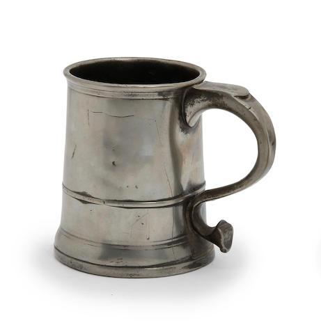 A Pre-Imperial Bristol straight-sided pint mug, circa 1740
