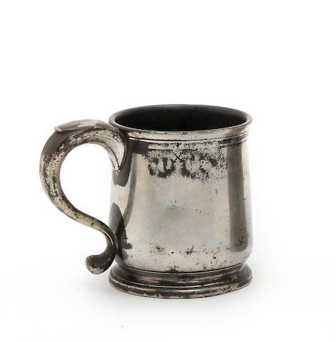 A Bristol pre-Imperial half-pint squat tulip-shaped mug, circa 1740