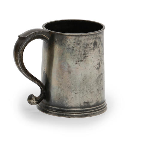 A Bristol half-pint straight-sided mug, circa 1790