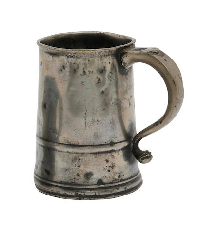 An ale pint straight-sided mug, circa 1740