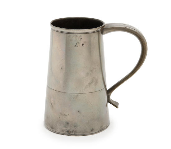 A quart truncated cone tavern pot, circa 1700
