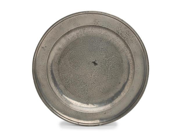 A Devon mid-18th Century single reeded dish