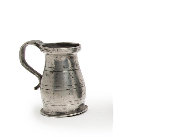 A Wigan OEWS gill lidless baluster measure, circa 1780