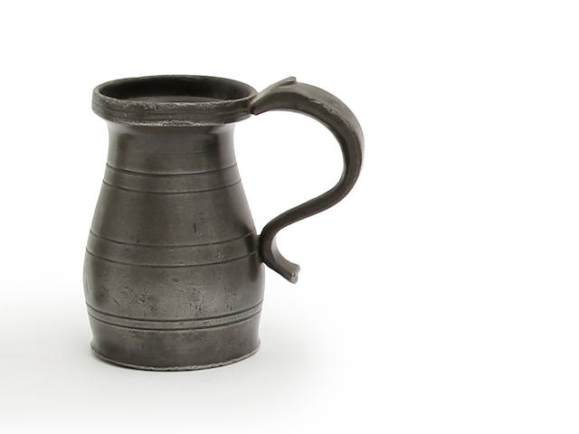 A Wigan OEWS gill lidless baluster measure, circa 1800