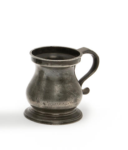 A rare quarter mutchkin bulbous measure, circa 1800