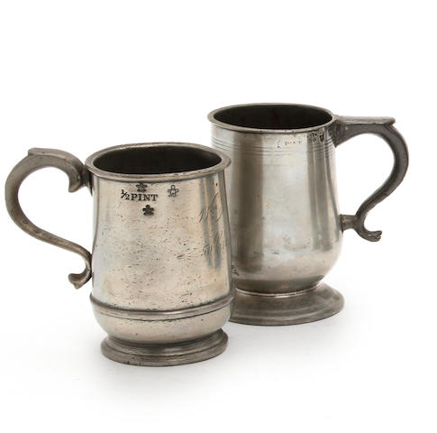 A Scottish half-pint U-shaped mug, circa 1860