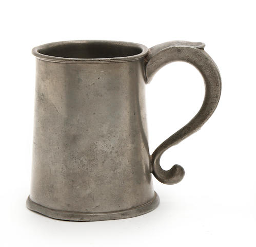 A pre-Imperial Irish straight-sided mug of Irish-pint capacity