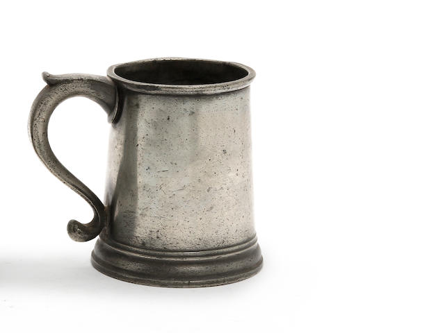 An Irish Imperial pint mug, circa 1830