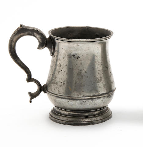 An Irish Imperial pint tulip-shaped mug, circa 1830