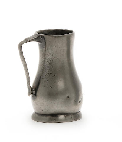 A Jersey lidless pewter measure, circa 1800