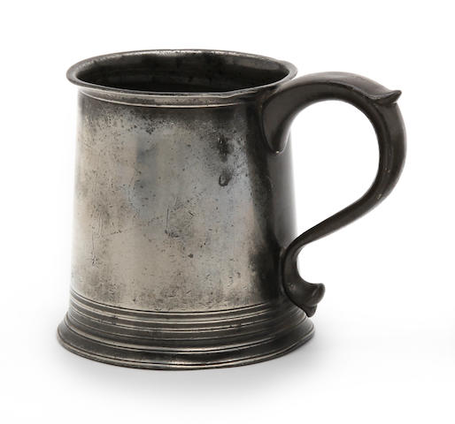 A Scottish mutchkin capacity straight-sided mug, circa 1825