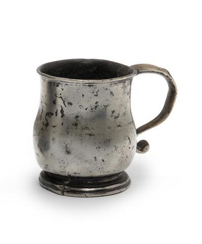 A Scottish half-mutchkin mug,