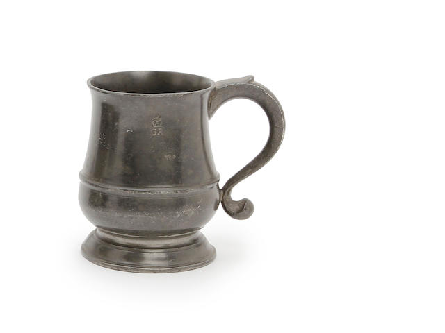 A Pre-Imperial half-pint tulip-shaped mug