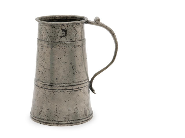 A quart two-banded tavern pot, circa 1685