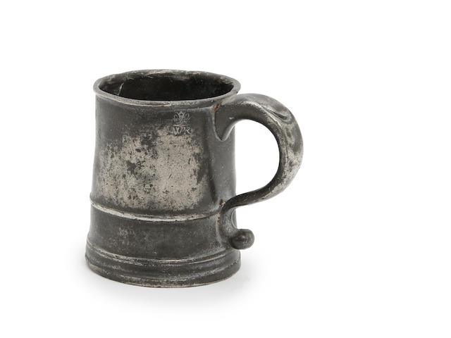 A Pre-Imperial half-pint straight-sided mug, circa 1770