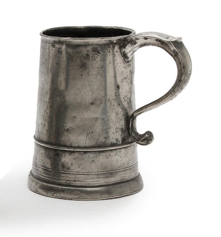 A straight-sided OEWS quart mug, circa 1740