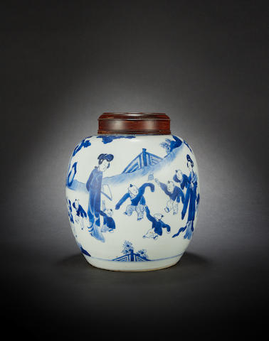 A white and white ginger jar Kangxi
