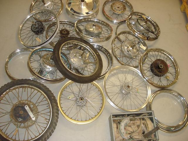 Assorted wheels and rims,