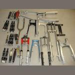 Various forks and other parts,