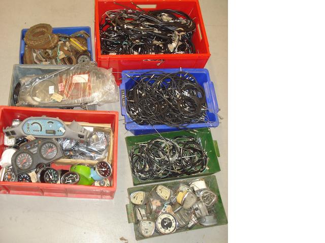 A quantity of dials and instruments,