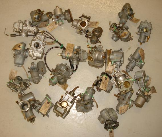 Assorted carburettors,