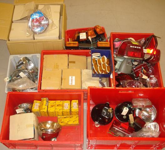 A large quantity of lighting equipment,