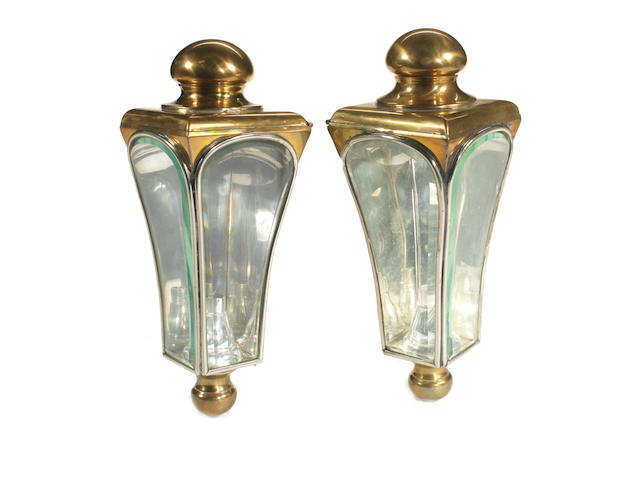 A pair of Gray & Davis coach side-lamps, American, circa 1910,