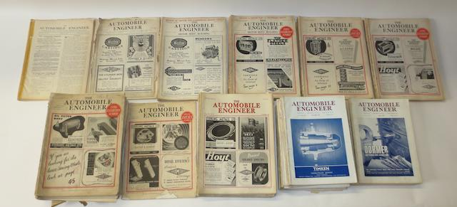 The Automobile Engineer; assorted pre and post-War issues,