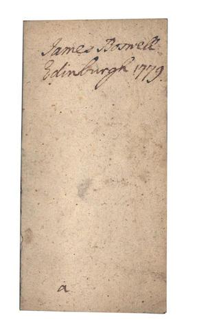BOSWELL (JAMES) - MOTHE-GUION (JEANNE MARIE de la) Opuscules spirituels, 1704; Regle des associés a l'enfance de Jesus,  1705, 2 works in one vol., JAMES BOSWELL'S COPY