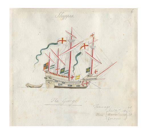 "HENRY VIII'S NAVY – THE ANTHONY ROLL. Thomas Kerrich's ""Abstract of Mr Pepys's Abstract of Anthony Anthony's Navy Royall of England: composed A.D. 1546"", 1782"