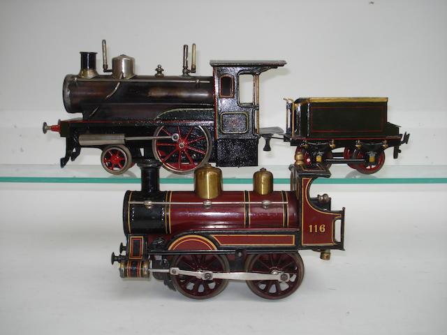 Gauge I Bing c/w 0-4-0 locomotive No.116, circa 1902  2