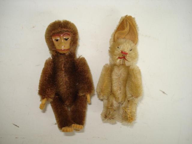 Miniature Schuco monkey and rabbit, 1920's 2