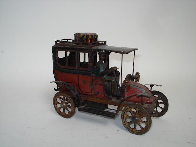 Rossignol tinplate c/w Renault 'Taxi de la Marne', circa 1910